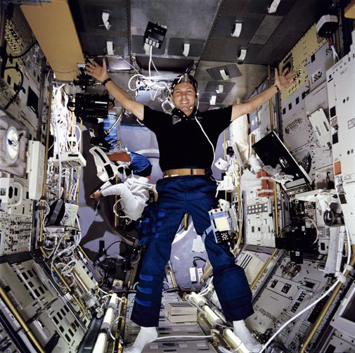 German astronaut Hans Schlegel returns to space after a 15-year absence.