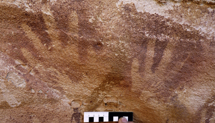 """Baby Hands"" on Rock Paintings Were Probably Lizard Prints"