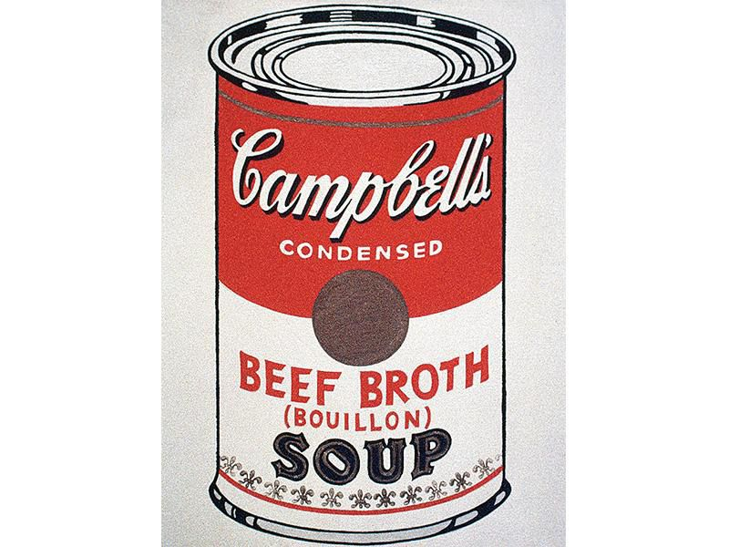 Campell's soup can by Andy Warhol