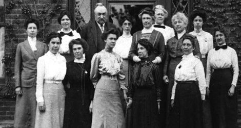 "Edward Pickering and his female assistants, known as the ""Harvard computers."""