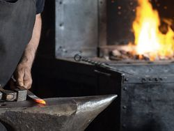 Visit the studio of an award-winning blacksmith image
