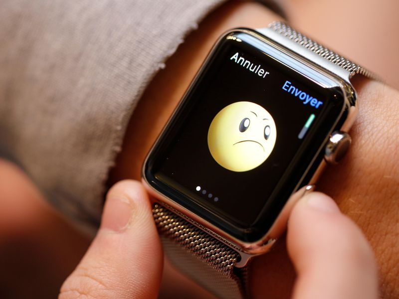 Sad face Apple Watch