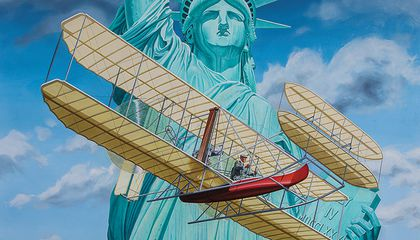 Wilbur Wright and the Statue of Liberty