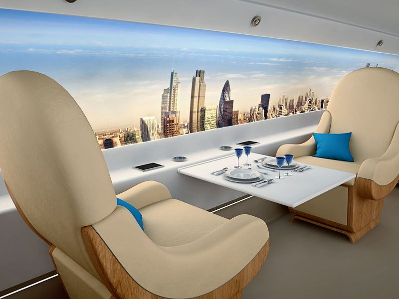Windowless Airplane Cabin Design, Spike Aerospace