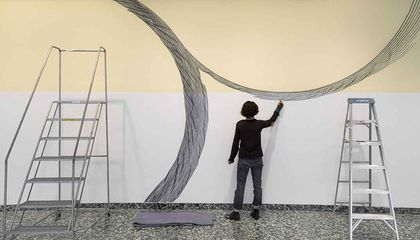The Mesmerizing Results When a Museum Asks an Artist to Draw All Over Its Walls