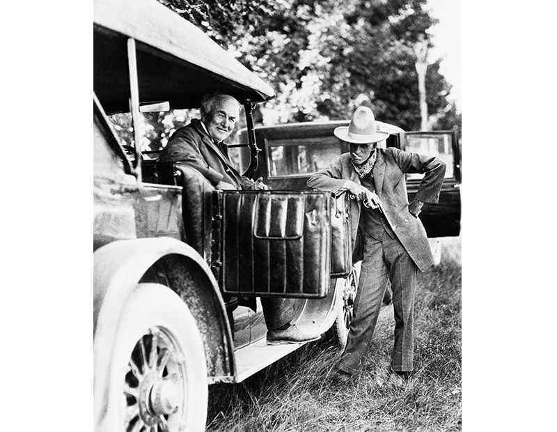 Henry Ford Poses With Thomas Edison In Dearborn Michigan C Bettmann Corbis