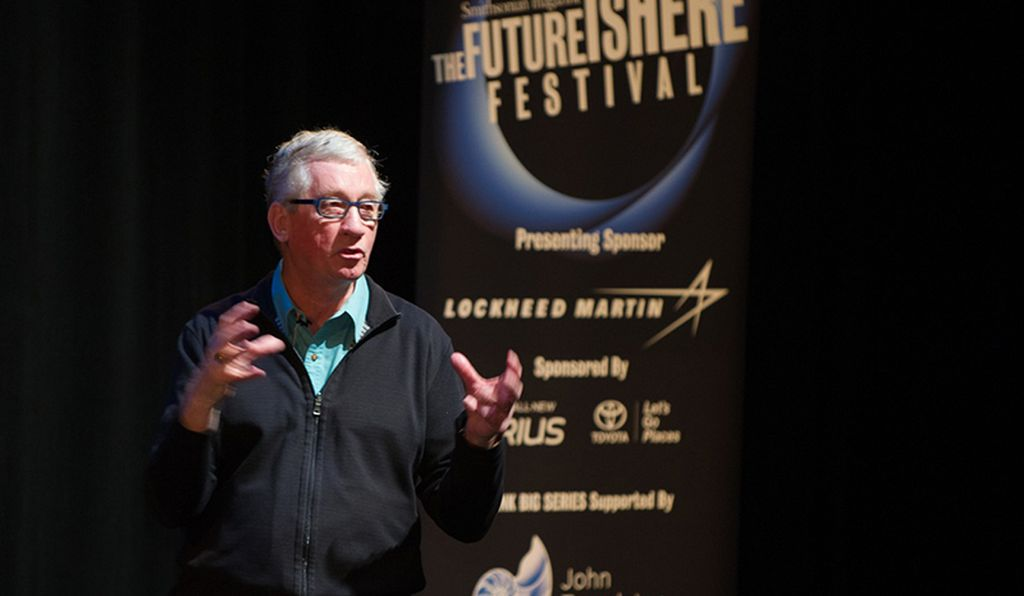 Frans de Waal, a primatologist, talked about animal cognition at the festival.