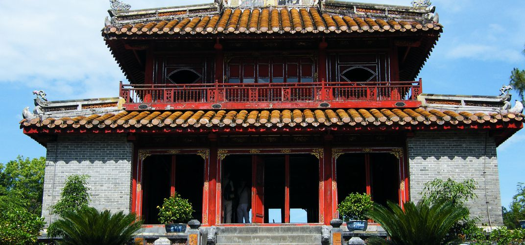 Pavilion at the Tomb of Minh Mang in Hue