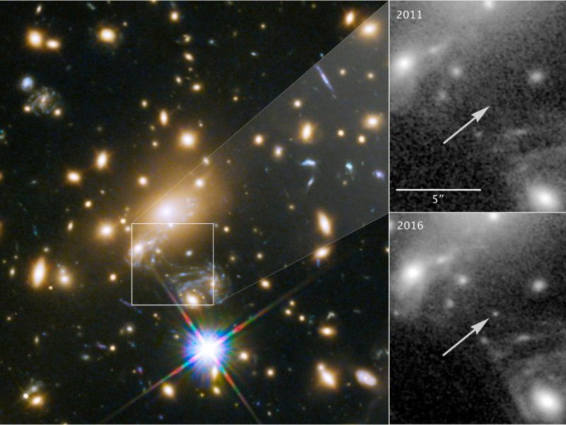 NASA's Hubble Space Telescope used to detect star Icarus halfway across universe