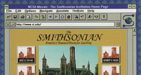 The Smithsonian homepage in 1995