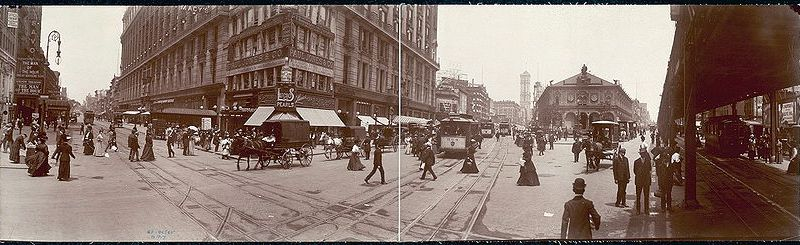 Herald Square circa 1907, when Ida Wood first moved into the Herald Square Hotel.