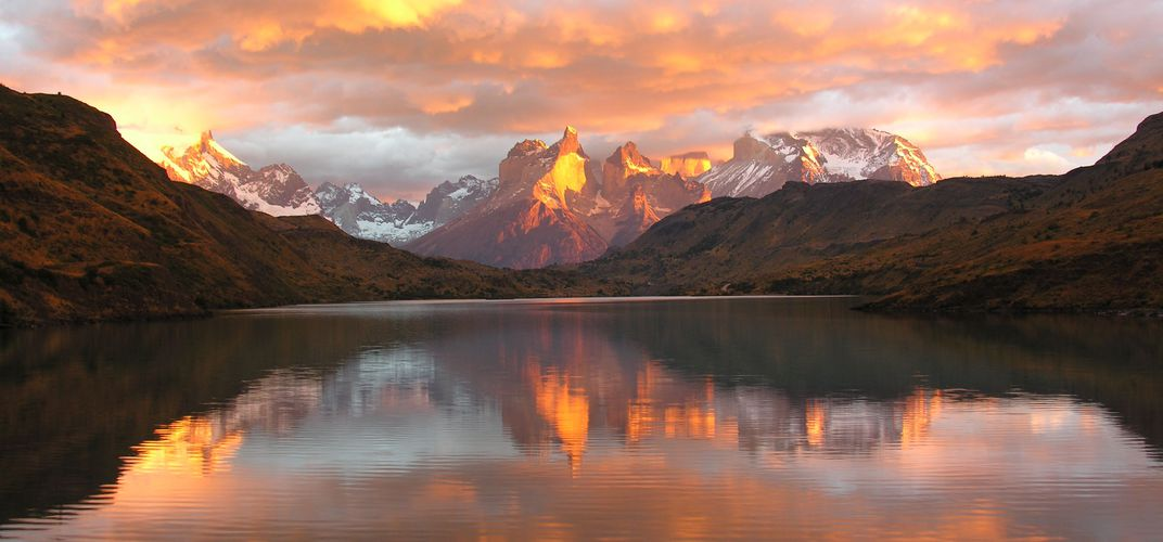 Sunrise in Torres del Paine National Park, Chile
