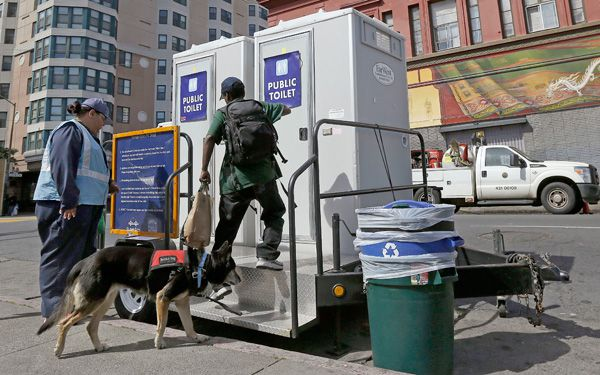 Toilets on wheels help keep San Francisco clean