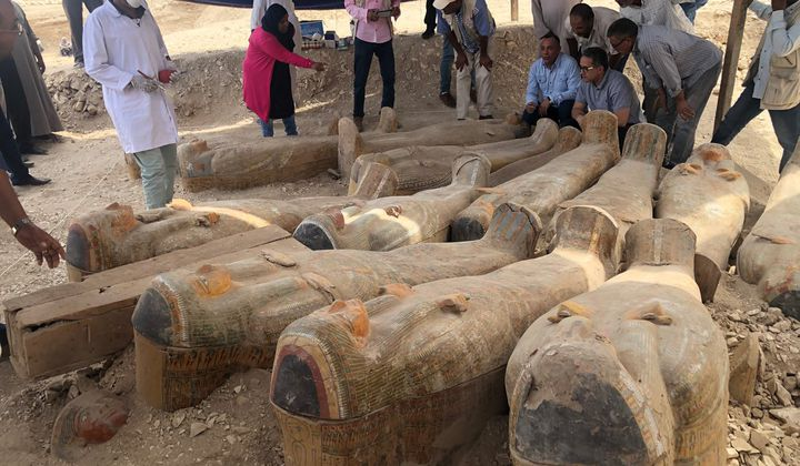 Twenty Colorful Sealed Coffins Found in Egypt