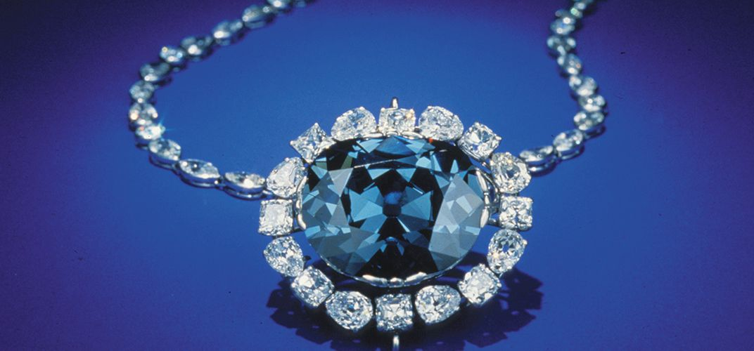 The famous Hope Diamond, the largest-known deep blue diamond in the world