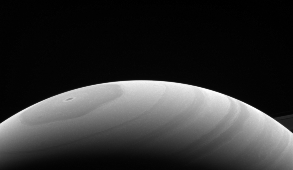 Saturn's northern hemisphere in May 2017, observed by the Cassini mission.