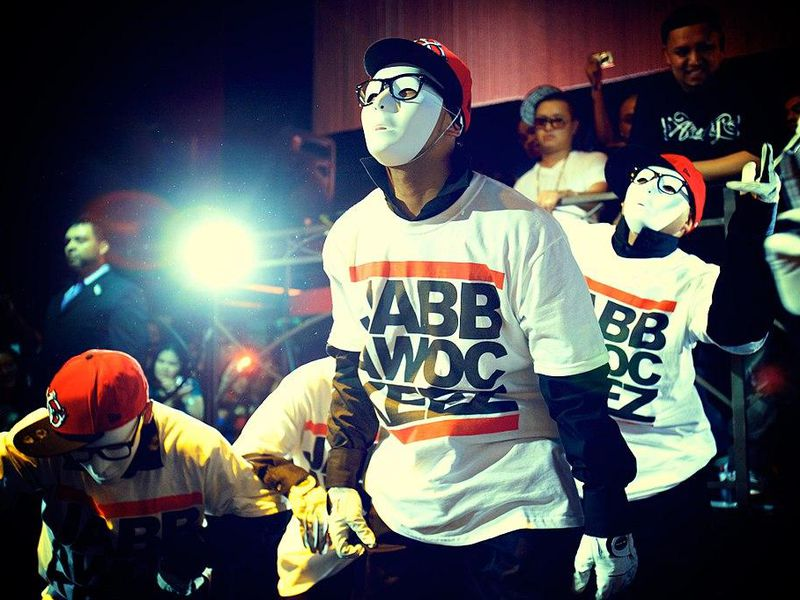 The jabbawockeez: a hip-hop dance crew from California and winners of the first season of America's Best Dance Crew