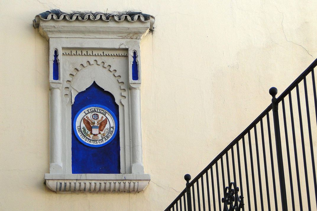 Federal seal at the Tangier American Legation