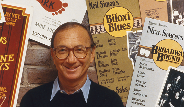 Neil Simon by David Hume Kennerly, 1986. National Portrait Gallery, Smithsonian Institution; Gift of Time magazine; © David Hume Kennerly