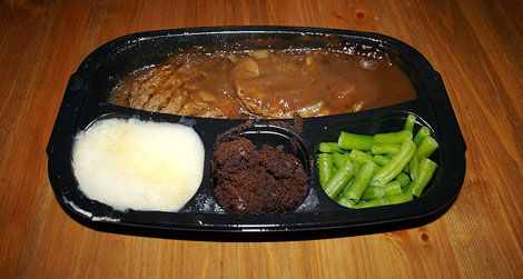 Salisbury steak TV dinner