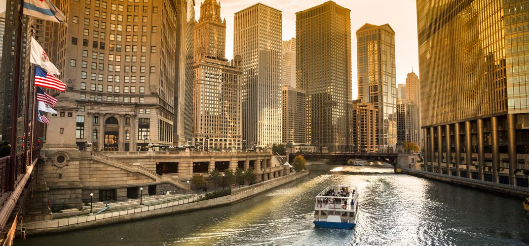 The city of Chicago, renowned for its modern and contemporary architecture