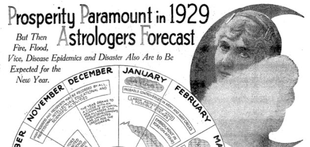 1928 article about astrologers predicting that 1929 will be a year of prosperity