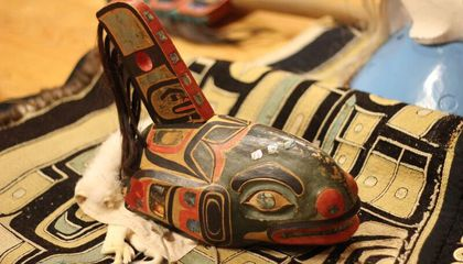 Tlingit Killer Whale Clan Hat digitized and repatriated by the Smithsonian's National Museum of Natural History in 2005. (Nick Partridge, Smithsonian)