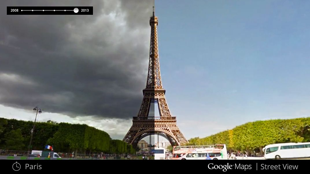 With Google Maps, It's Now Possible To Travel Through Time ... on topographic map of paris france, online map of paris france, detailed map of paris france, road map of paris france, mapquest paris france, satellite view of paris france, physical map of paris france,