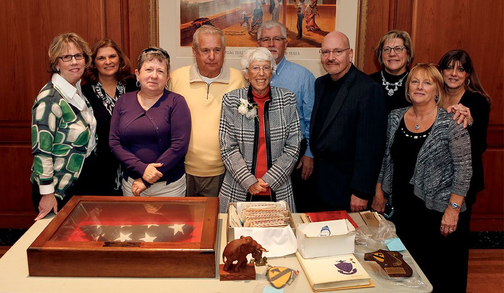 Former students from Yorkship Family School reunited to donate Vietnam War-era artifacts to the American History Museum. Eight of them visited the museum on November 14 with their teacher and Joe Meskaitis, a Vietnam War veteran.