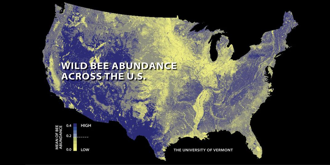 The First National Study To Map Us Wild Bees Suggests They Re Disappearing In Many Of The Country S Most Important Farmlands Relatively Low Abundances Are