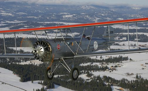 After 80 years, a restored mail carrier flies again.
