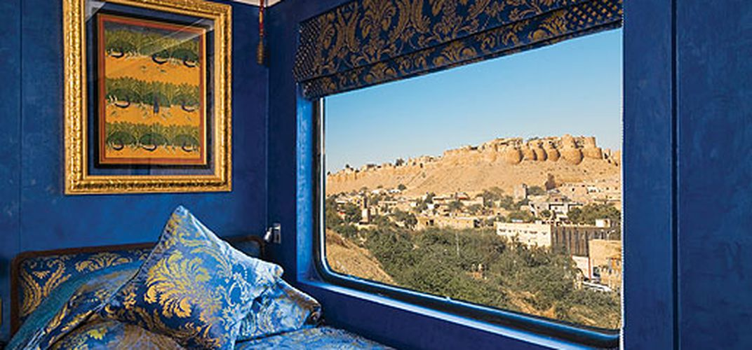 A cabin aboard Royal Rajasthan on Wheels