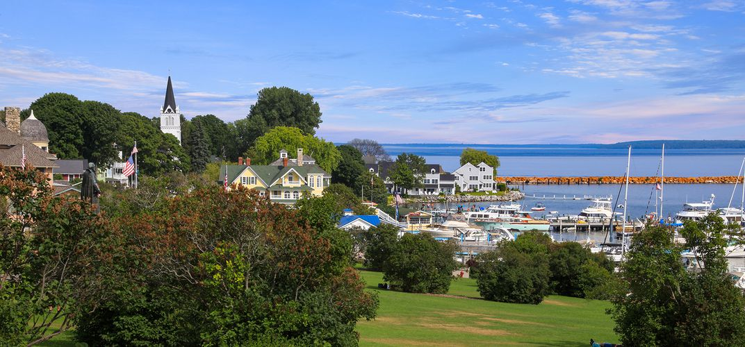 Mackinac Island overlooking Lake Huron