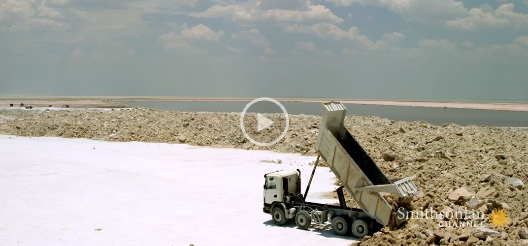 Caption: You Won't Believe the Size of Botswana's Salt Flats