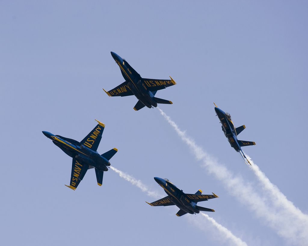 Blue Angels Demonstration Team at the US Naval Academy in