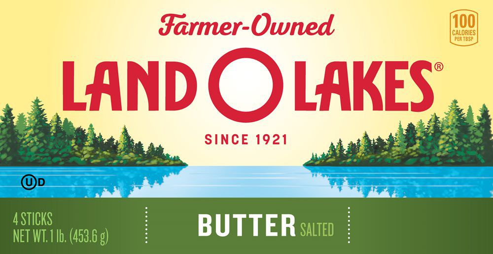 New Land O' Lakes packaging