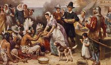 The Pilgrims celebrated a harvest festival