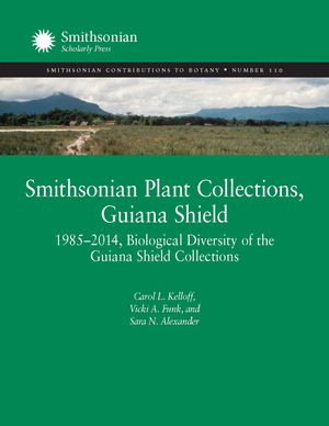 Smithsonian Plant Collections, Guiana Shield: 1985–2014, Biological Diversity of the Guiana Shield Collections photo