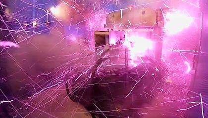 Watch the Strongest Indoor Magnetic Field Blast Doors of Tokyo Lab Wide Open