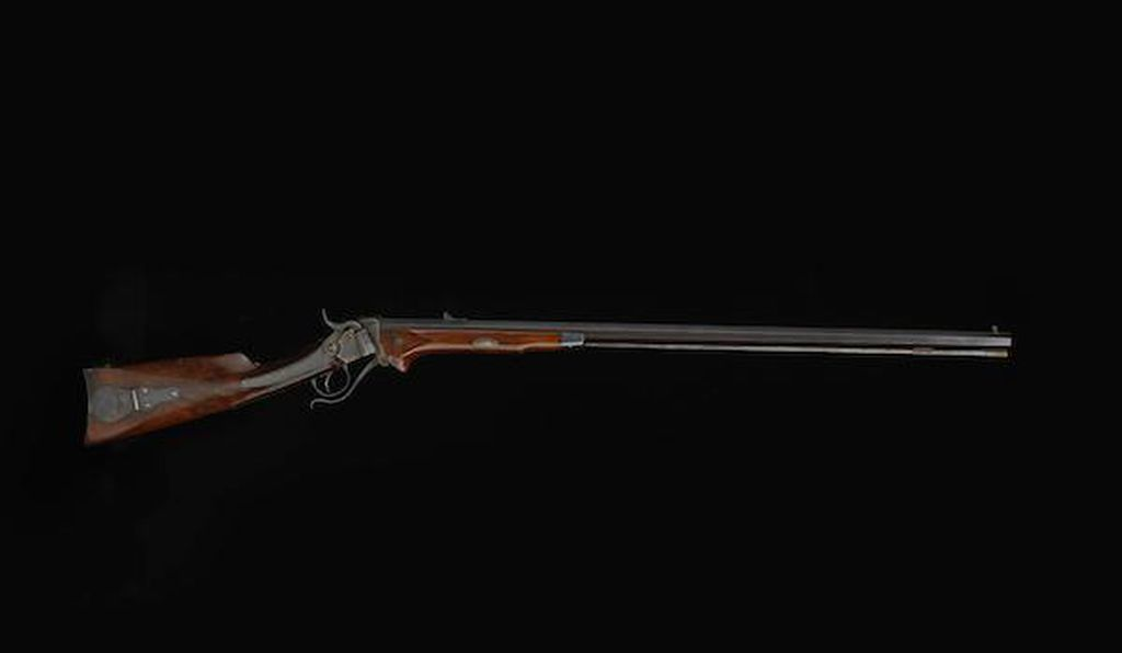 44-caliber Sharps percussion sporting rifle used by abolitionist John Brown, ca 1856