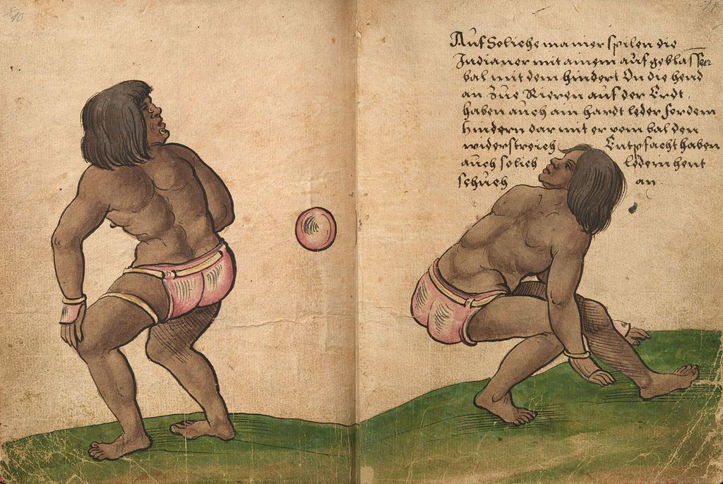 Aztec ball game players