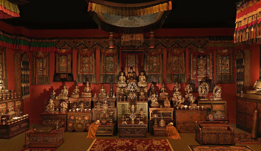 The Tibetan Buddhist Shrine Room from the Alice S. Kandell Collection, detail