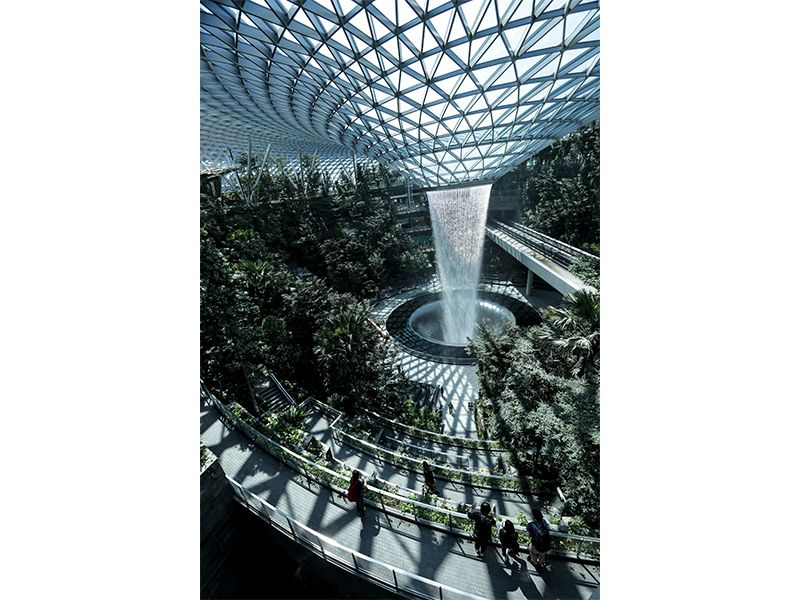 Singapore Airport waterfall