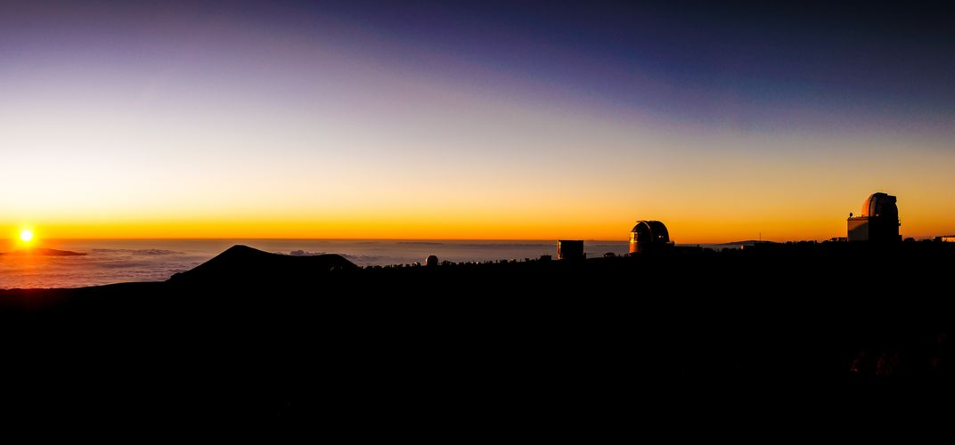 Sunset at Mauna Kea Obsevatory