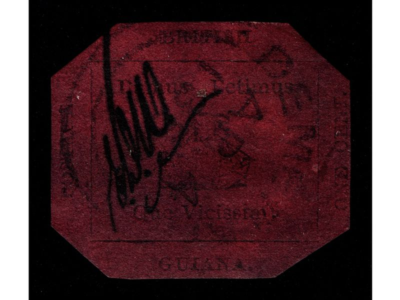 1856 British Guiana One-Cent Magenta