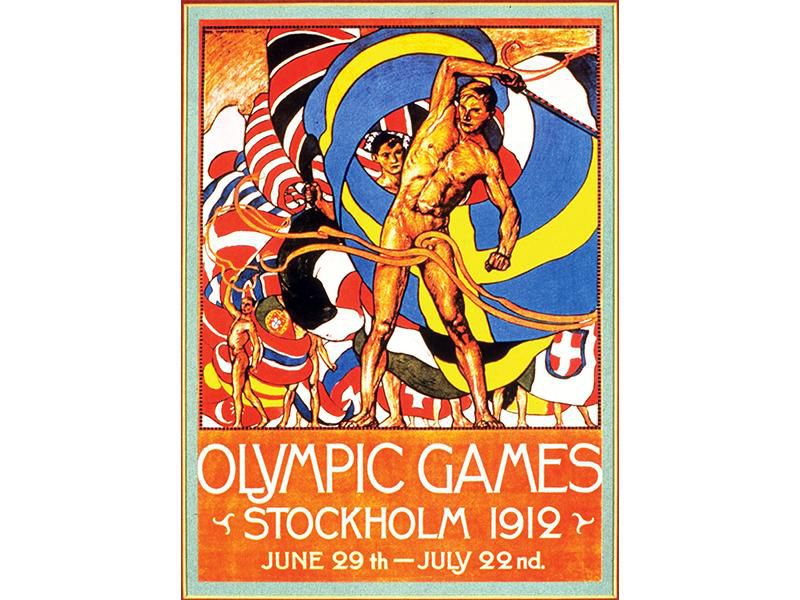A poster for the 1912 Olympics in Stockholm