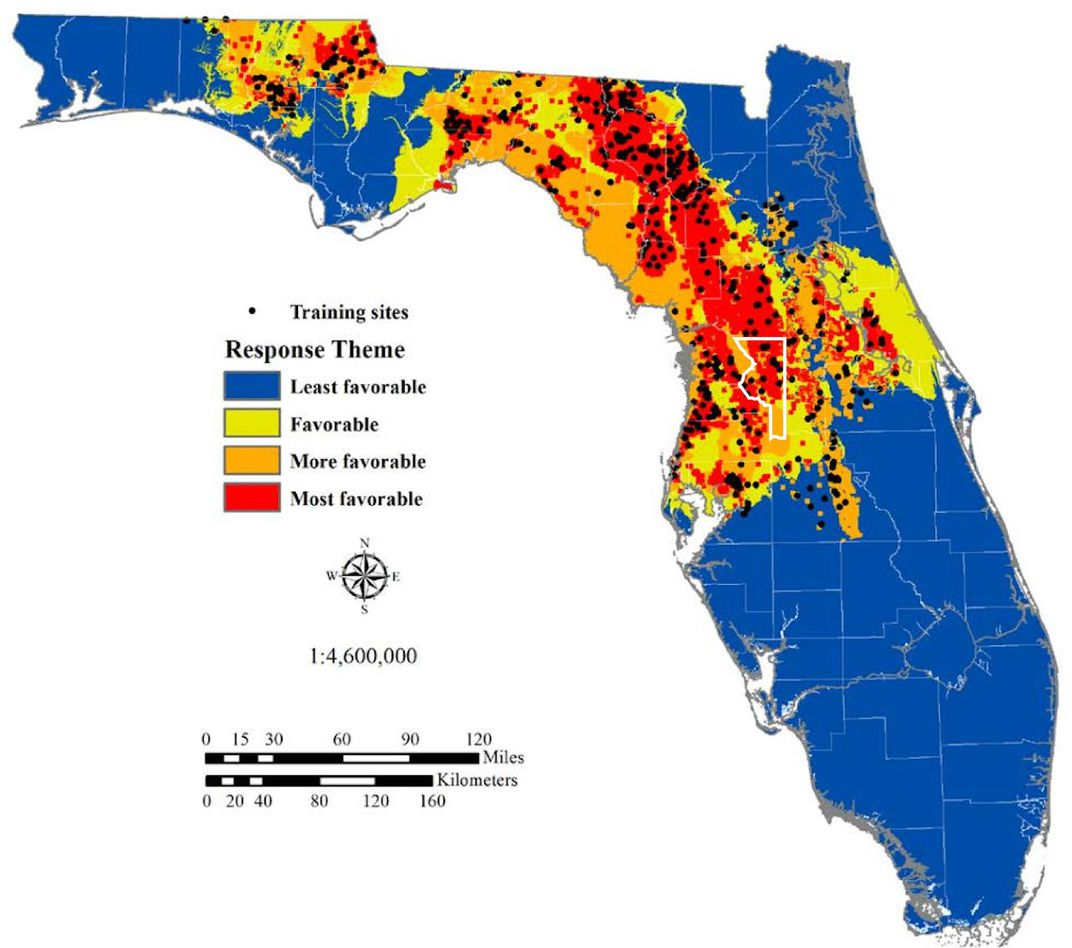The Science Behind Floridas Sinkhole Epidemic Science Smithsonian - Us-sinkhole-map