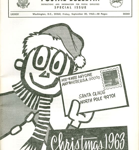 A 1963 ad featuring the Postal Service's Mr. Zip.