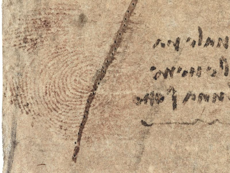 Revealed: Leonardo da Vinci's Reddish-Brown Thumbprint