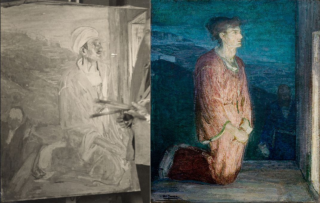 (L) Detail of Judas by Henry Ossawa Tanner (R) Two Disciples at the Tomb by Henry Ossawa Tanner courtesy of Michael Rosenfeld Gallery